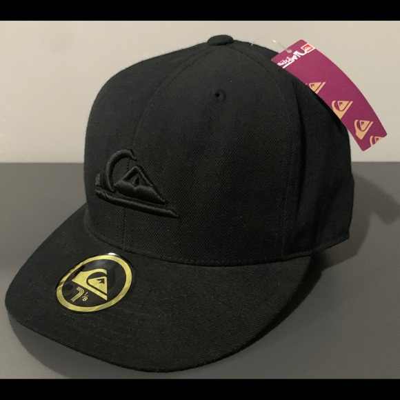 Quiksilver Accessories - QUICKSILVER DOBBY FITTED BASEBALL HAT/CAP BLACK XS
